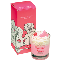 Rhubarb Rave Piped Candle