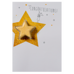 Congratulations Star Blaster Card