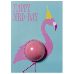 Happy Bird-Day Blaster Card