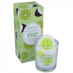 Coconut & Lime Piped Glass Candle