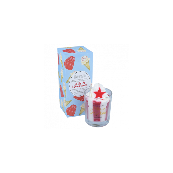 Jelly & Icecream Piped Glass Candle