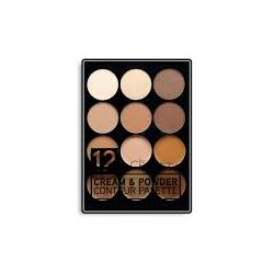12 COLOR CREAM & CONTOUR PALETTE (C-08)