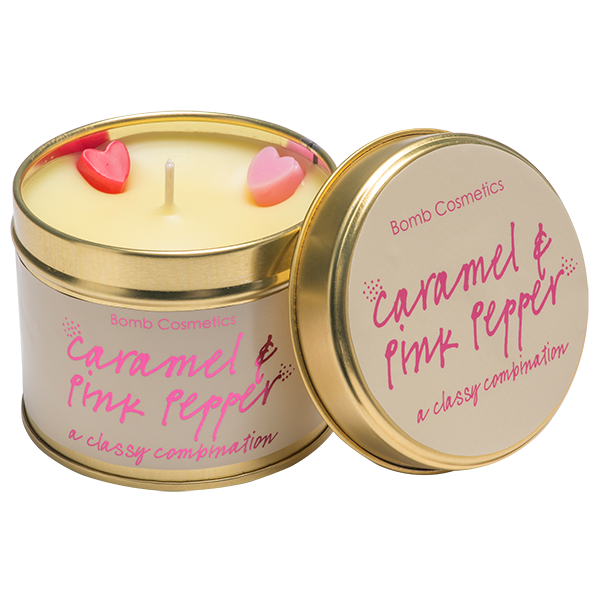 Caramel & Pink Pepper Tinned Candle